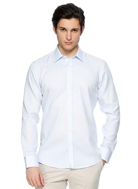 Fabrika Klasik Uzun Kollu Gömlek Mavi
